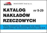 KNR 9-29 Roboty rozbiórkowe, demontaże oraz roboty uzupełniające dla elementów zabudowy z płyt G-K