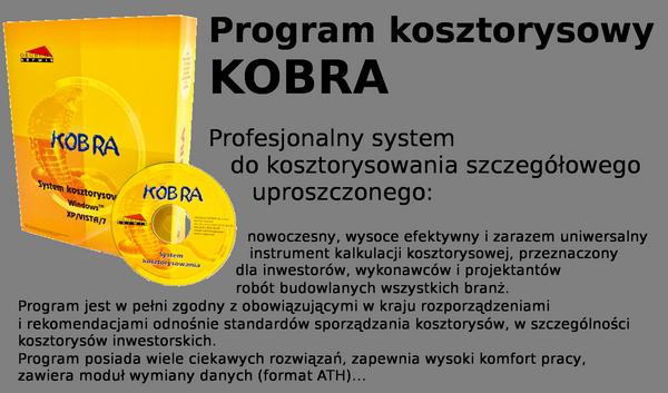 Program do kosztorysowania Kobra